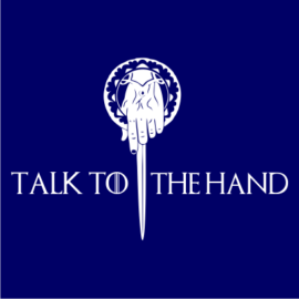 talk to the hand navy square