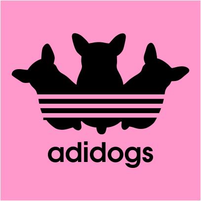 adidogs pink