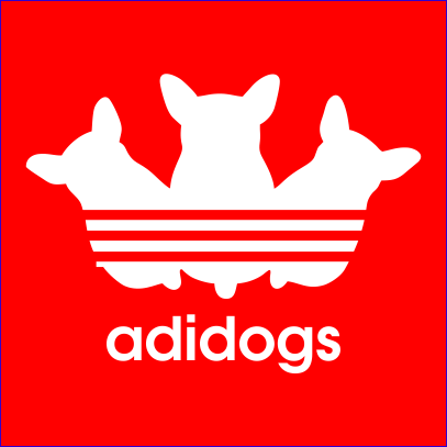 adidogs red