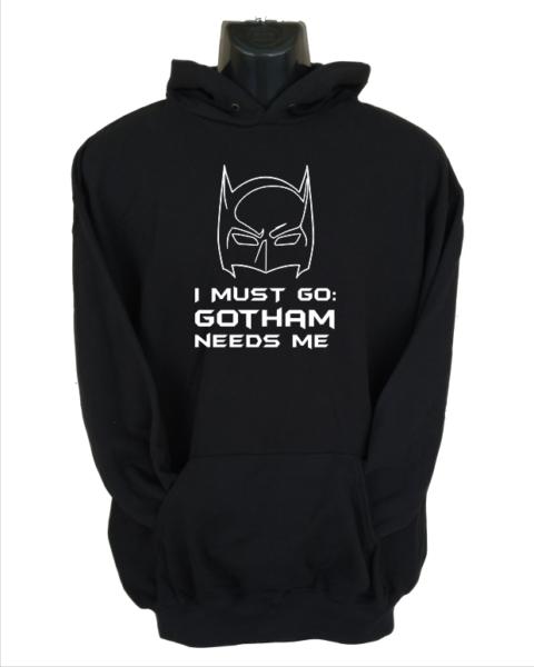 gotham needs me black hoodie
