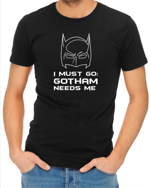 gotham needs me mens black shirt