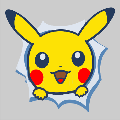 pikachu front grey