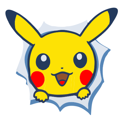 pikachu front white