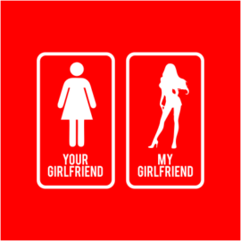 your vs my girlfriend red
