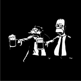 pulp-fiction-simpsons-black