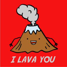 i lava you red tshirt