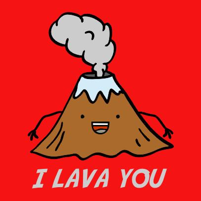 i lava you red tshirt