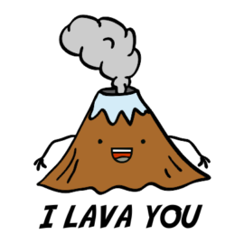 i lava you white tshirt