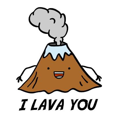 i lava you white tshirt