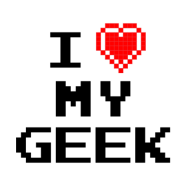 i love my geek white t-shirt