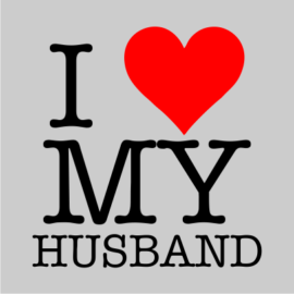 i love my husband grey tshirt