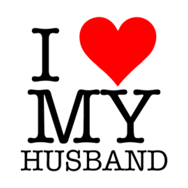i love my husband white tshirt