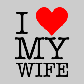 i love my wife grey tshirt