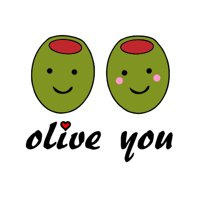 olive you white tshirt