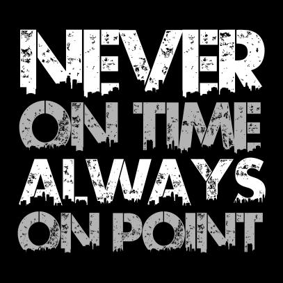 never on time black