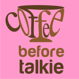 coffee before talkie light pink