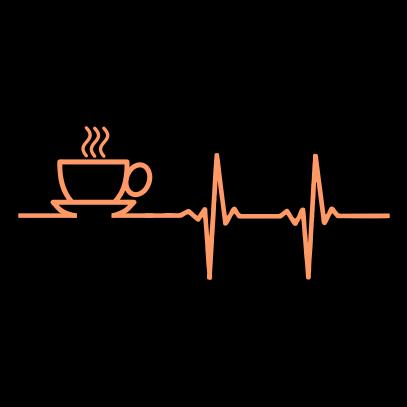 coffee heartbeat black
