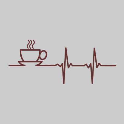 coffee heartbeat grey