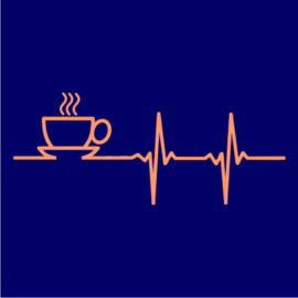 coffee heartbeat navy