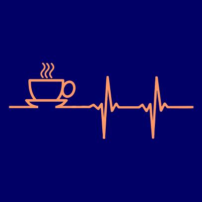 coffee heartbeat navy