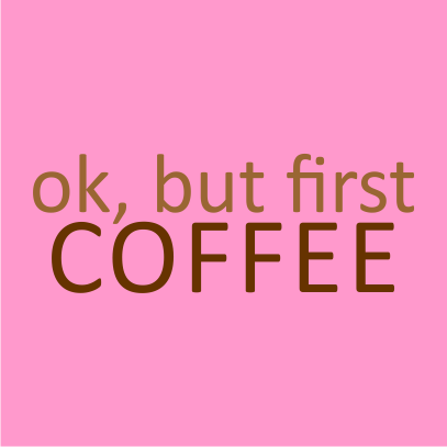 first coffee light pink