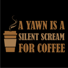 yawn for coffee black