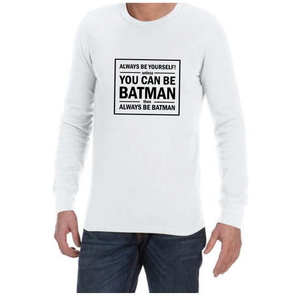 Batman (White) long sleeve shirt