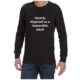 Cleverly Disguised (Black) long sleeve shirt