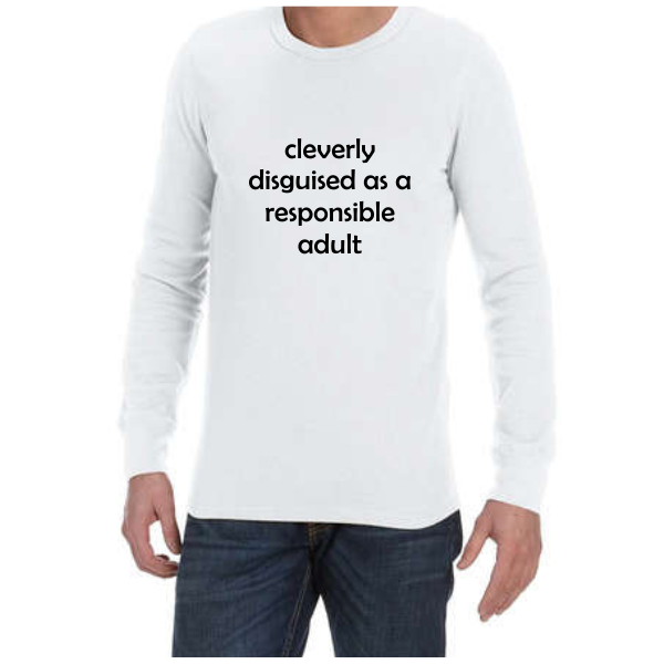 Cleverly Disguised (White) long sleeve shirt