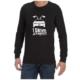 I Drive At 88mph (Black) long sleeve shirt