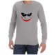 Joker Smile (Grey) long sleeve shirt