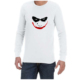 Joker Smile (White) long sleeve shirt