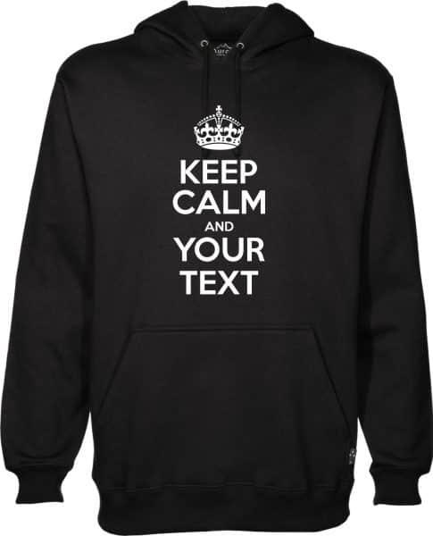 Keep Calm Black Hoodie