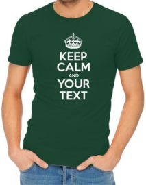 Keep Calm Mens Bottle Green Shirt