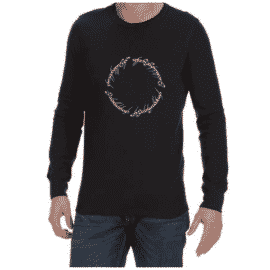 LOTR Script (Black) long sleeve shirt