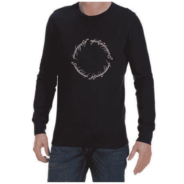 LOTR Script (Black) long sleeve shirt