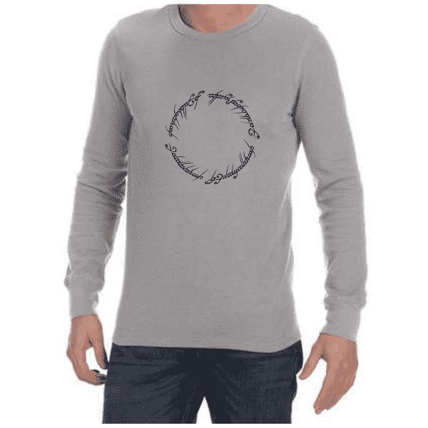 LOTR Script (Grey) long sleeve shirt