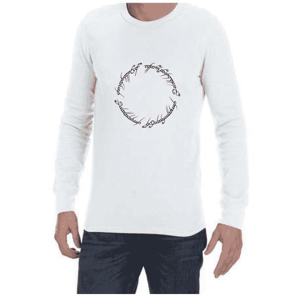 LOTR Script (White) long sleeve shirt