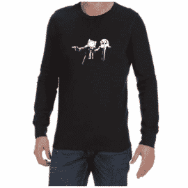 Pulp Fiction Adventure (Black) long sleeve shirt