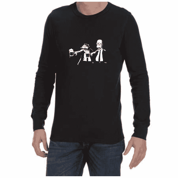 Pulp Fiction Simpsons (Black) long sleeve shirt