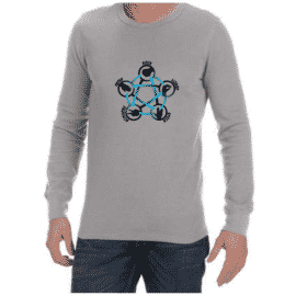 Rock Paper Scissors (Grey) long sleeve shirt