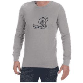 Sad Spaceman (Grey) long sleeve shirt
