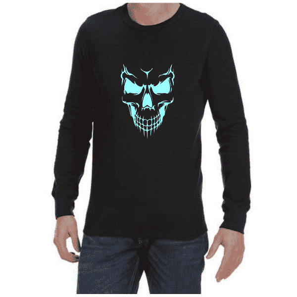 Scary Skull (Black) long sleeve shirt