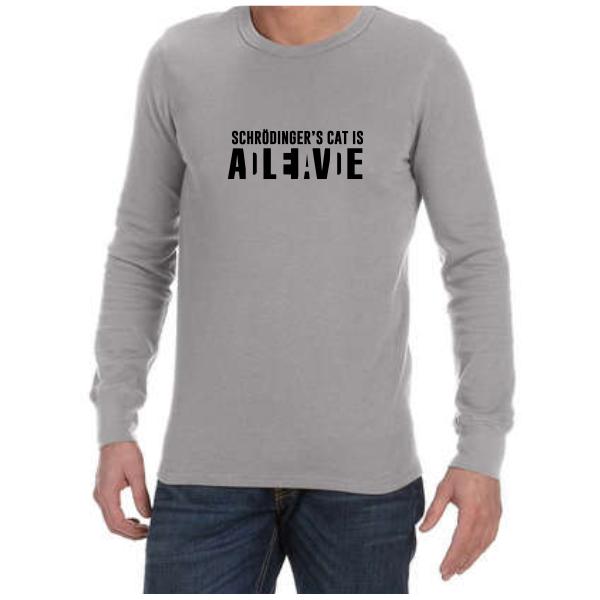 Schrodingers Cat (Grey)  long sleeve shirt