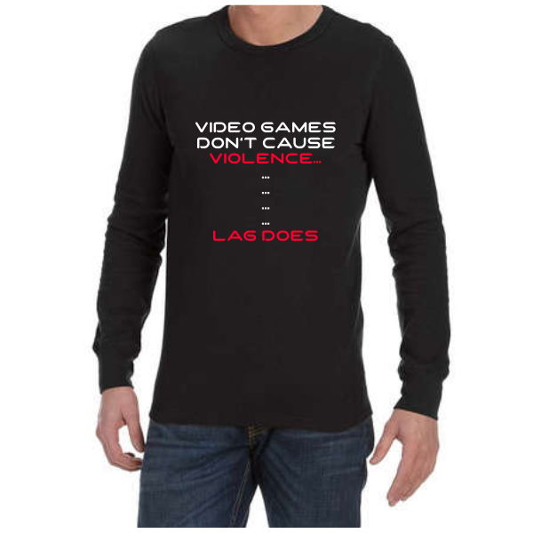 Video Game Violence (Black) long sleeve shirt