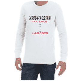 Video Game Violence (White) long sleeve shirt