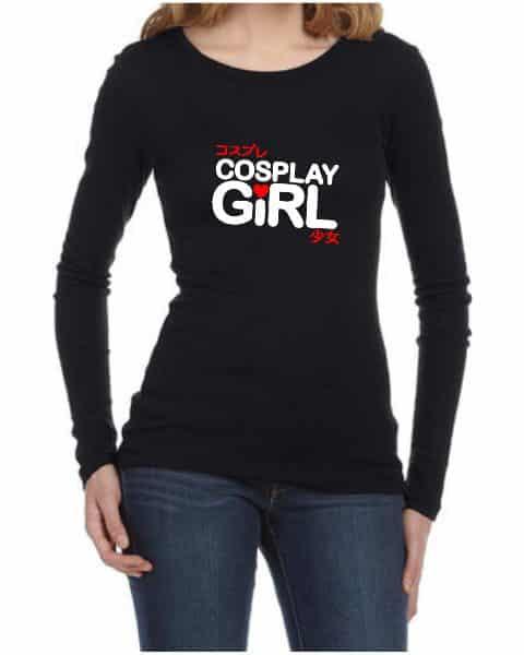 cosplay girl ladies long sleeve shirt