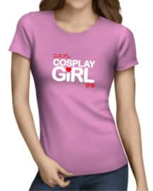 cosplay girl ladies tshirt