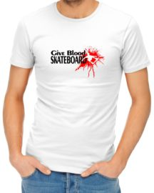 give blood skateboard mens tshirt