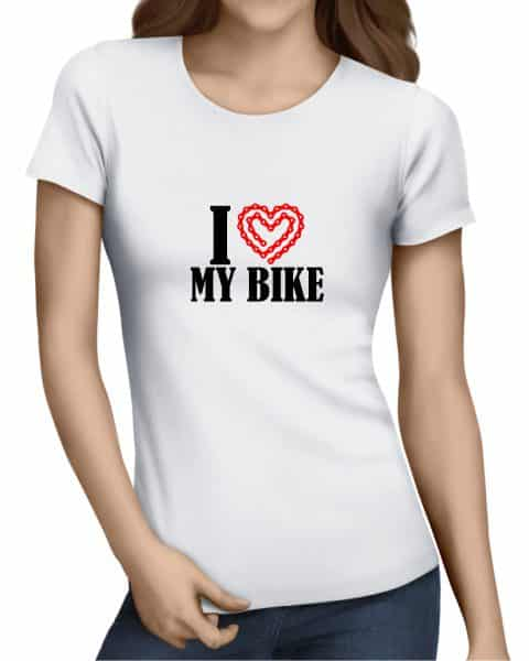 i heart my bike ladies tshirt